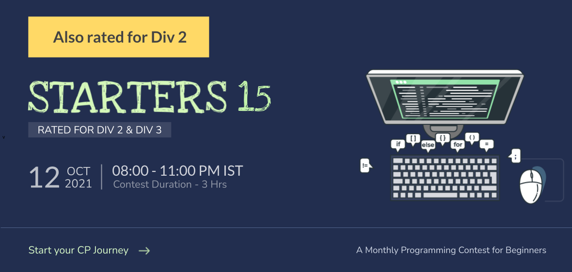 CodeChef Starters 15 Division 3 (Rated) - CodeChef